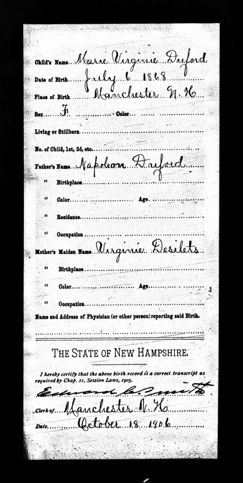 Lahaise/Duford, mariage Ste-Anne, Manchesater,  NH USA - Page 2 Virgin12