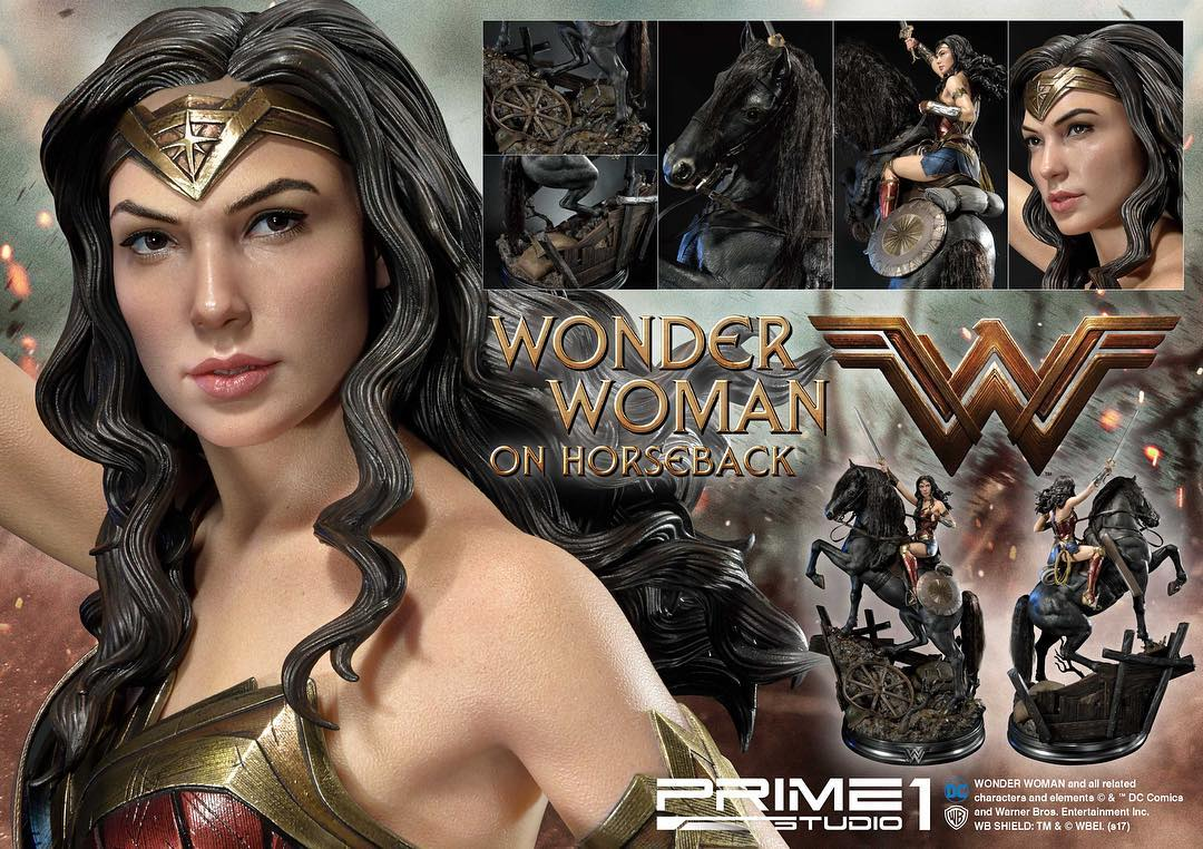 DC Comics - Wonder Woman Movie : Wonder Woman On Horseback 1/3 Scale Museum Masterline statue 20969310