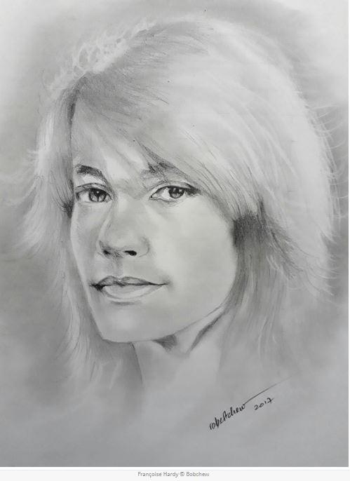 Portrait de Françoise Hardy par Bobchew Captur32