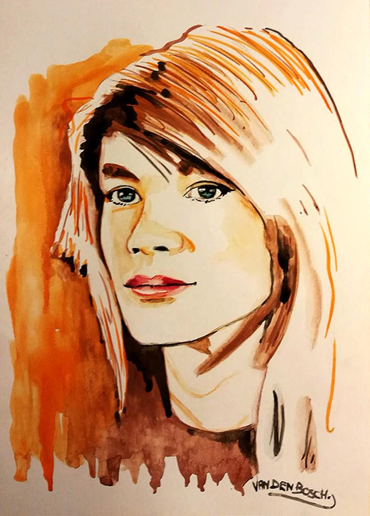 Portrait de Françoise Hardy par Van den Bosh.j Giiq10