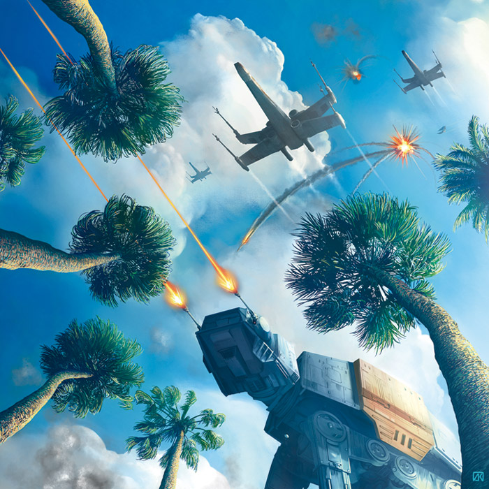 Artwork Star Wars Rogue One - ACME - Scarif Attack 0385