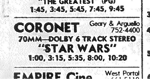Star Wars and the Coronet in 1977: An oral history 03tick10