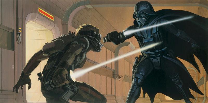 Kotobukiya - Ralph Mc Quarrie duel Vader / Luke ARTFX Statue 05-vad10