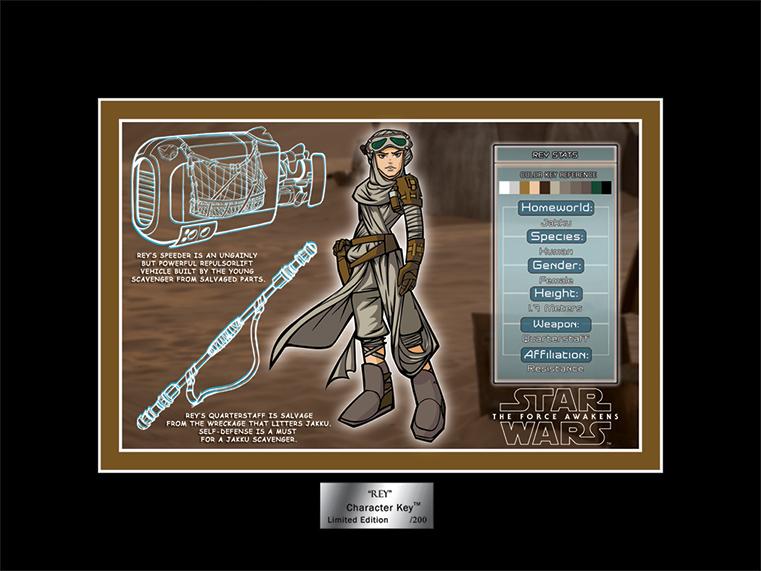 Artwork Star Wars - ACME - Rey Character Key  06a10