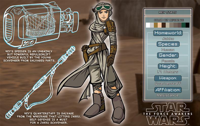 Artwork Star Wars - ACME - Rey Character Key  06b10
