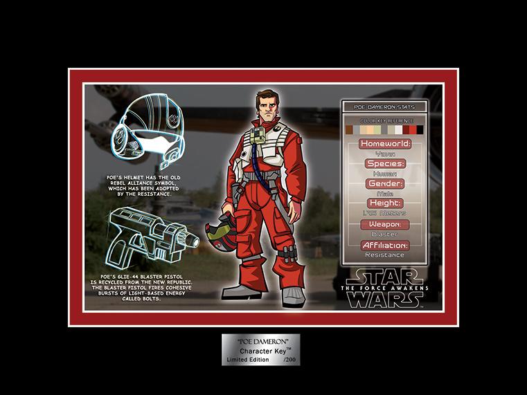 Artwork Star Wars - ACME - Poe Character Key 07a10