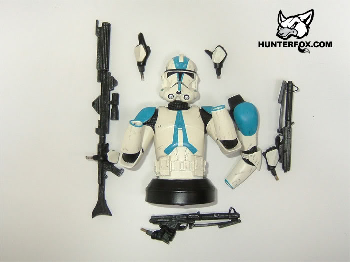 Clone Trooper 501st Special Ops (Blue) ROTS Mini bust 10111
