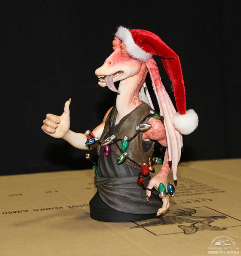 GG - Jar Jar Binks & W. Wald - 2012 Holiday Deluxe Mini Bust 3-110