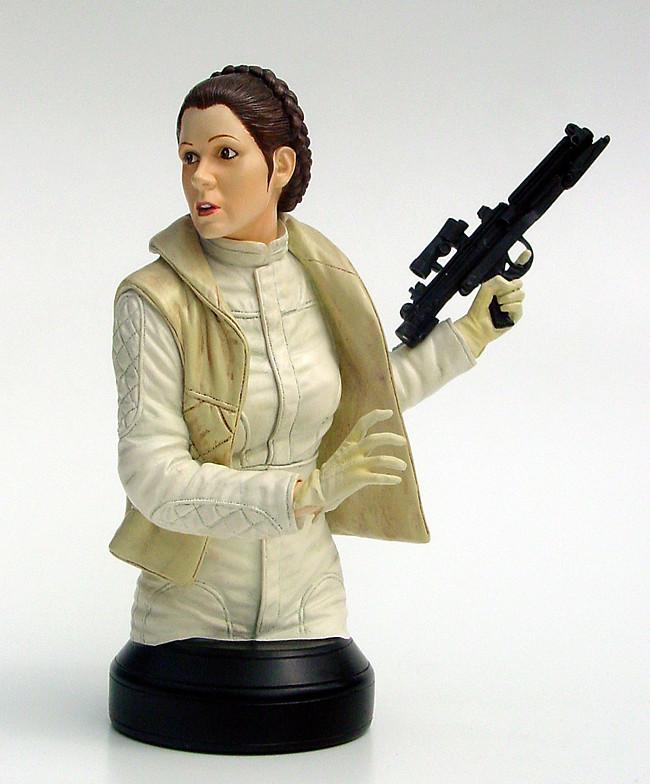 Gentle Giant -Han solo, Luke Skywalker & Leia Hoth mini-bust 715gts10