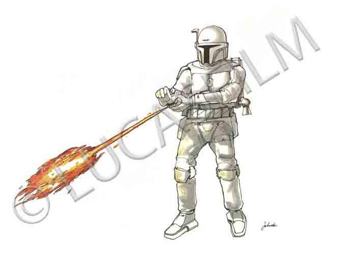 Star Wars Boba Fett Artist Portfolio Acmefe11