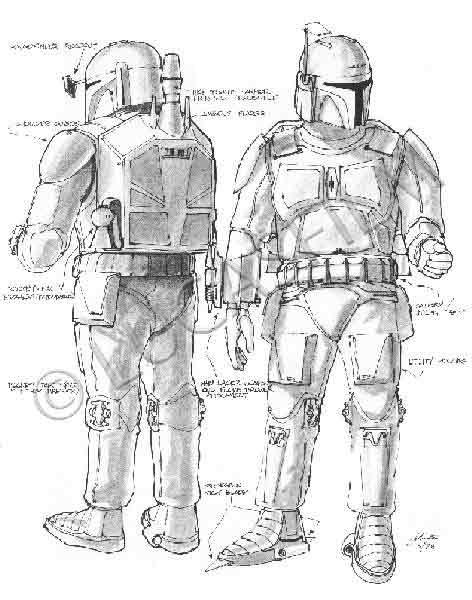 Star Wars Boba Fett Artist Portfolio Acmefe14