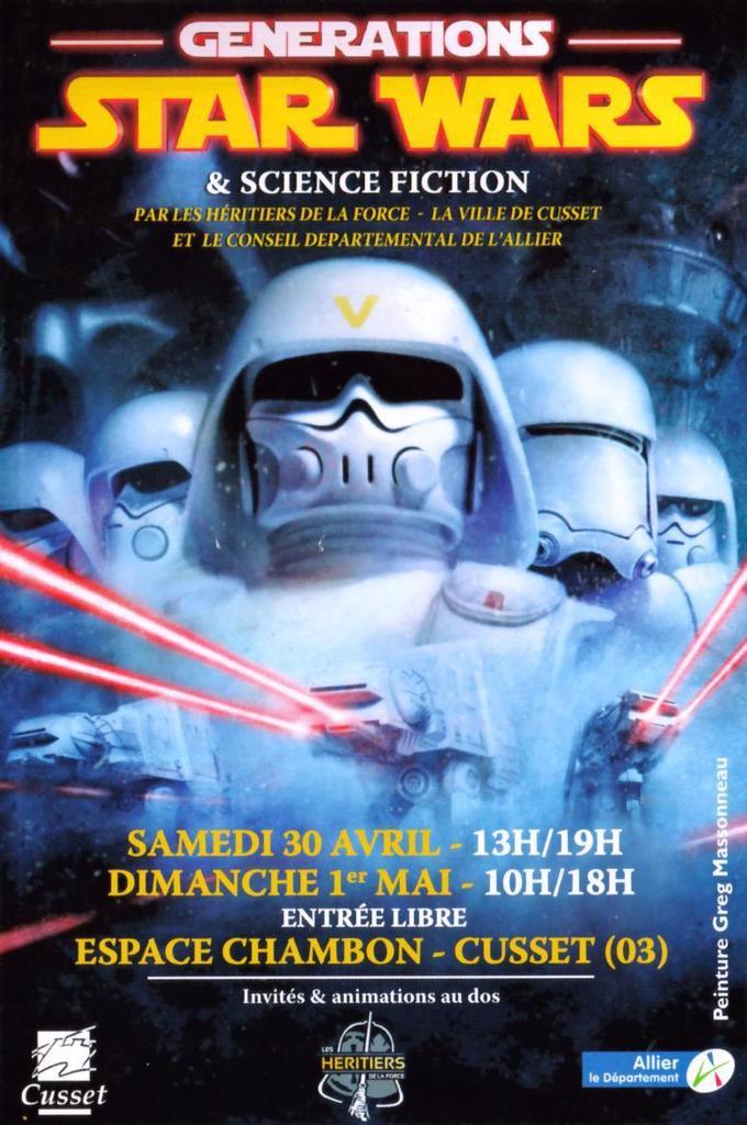 Générations Star Wars & SF - Cusset 30 Avril et 1er Mai 2016 - Page 2 Affich24