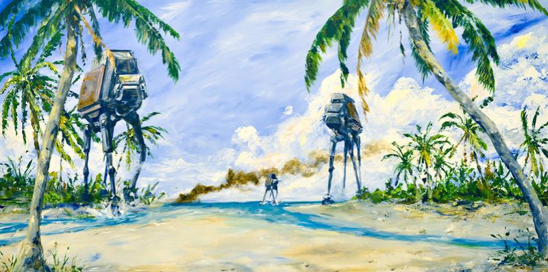 Artwork Star Wars - ACME - AT-ACT on the Shore At-act10