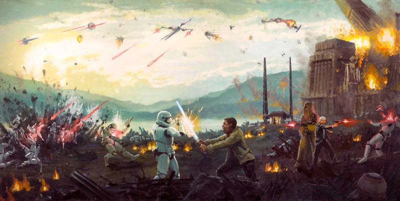 Artwork Star Wars - ACME - Attack on Takodana Attack10