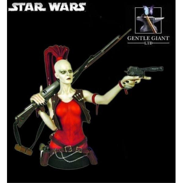 Gentle Giant - Aurra Sing mini bust Aurra-10
