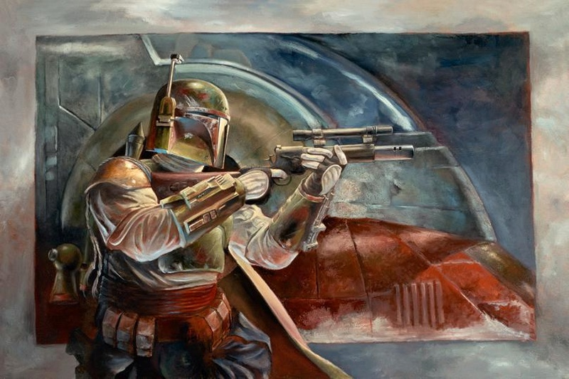 Artwork Star Wars - ACME - Boba Fett with Slave 1 Boba_w10