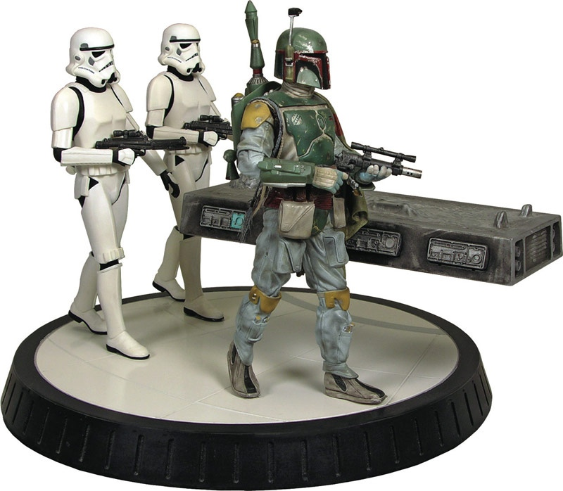 Gentle Giant - Boba fett stormtrooper and han solo carbonite Bobba_12