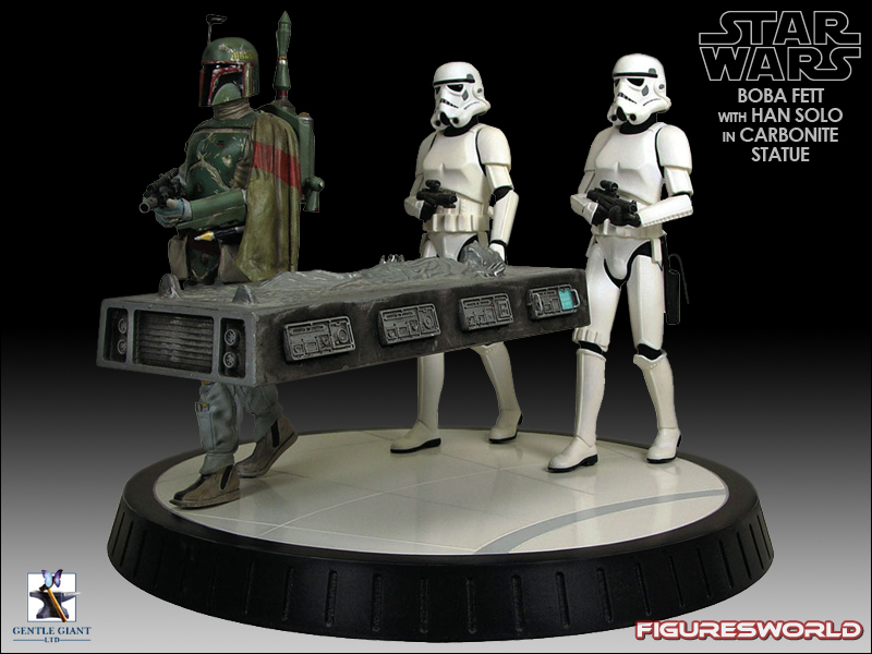 Gentle Giant - Boba fett stormtrooper and han solo carbonite Bobba_13