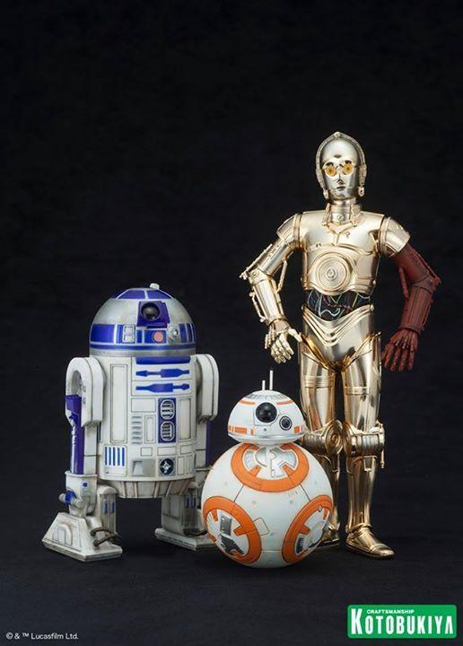 Kotobukiya Star Wars - C3PO,R2D2,BB8 ARTFX+ Statue C3po-r10