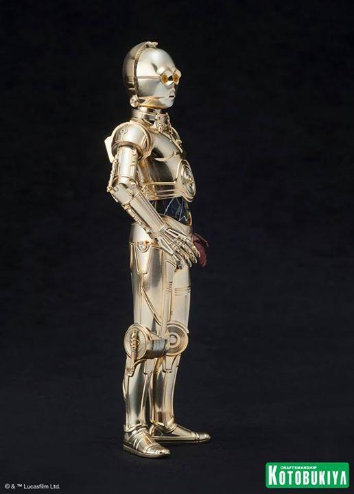 Kotobukiya Star Wars - C3PO,R2D2,BB8 ARTFX+ Statue C3po-r15