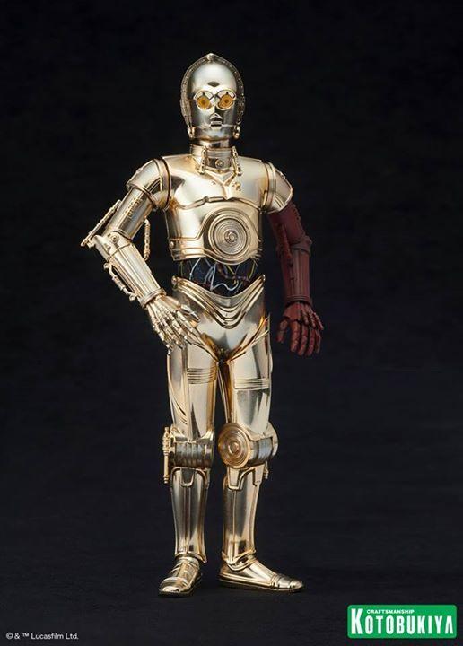 Kotobukiya Star Wars - C3PO,R2D2,BB8 ARTFX+ Statue C3po-r16