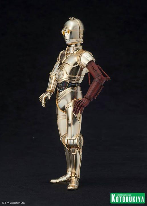 Kotobukiya Star Wars - C3PO,R2D2,BB8 ARTFX+ Statue C3po-r18