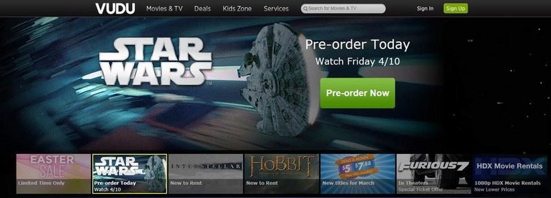 Star Wars en VOD Captur40