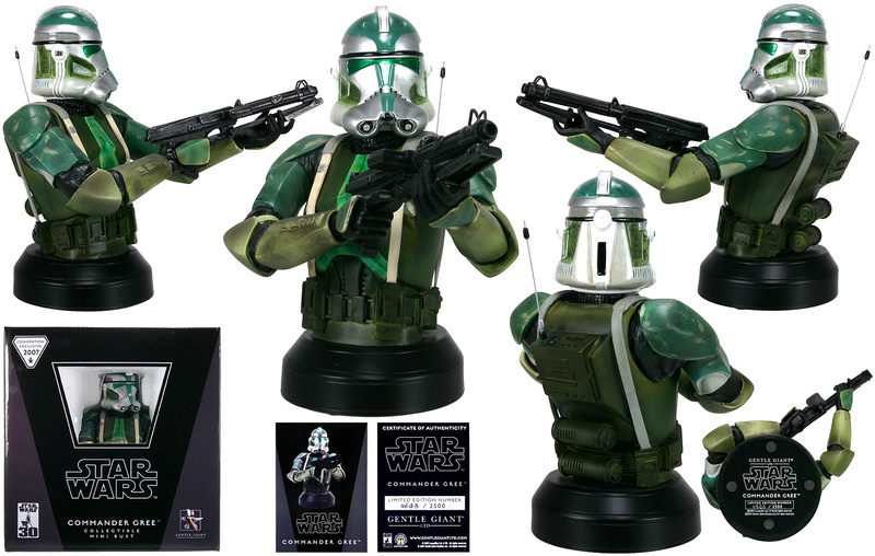 Gentle Giant - Clone Commander Gree mini bust Comman11