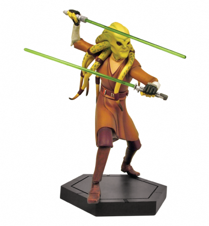 Gentle Giant - CW Kit Fisto Animated Maquette Cwkitf11