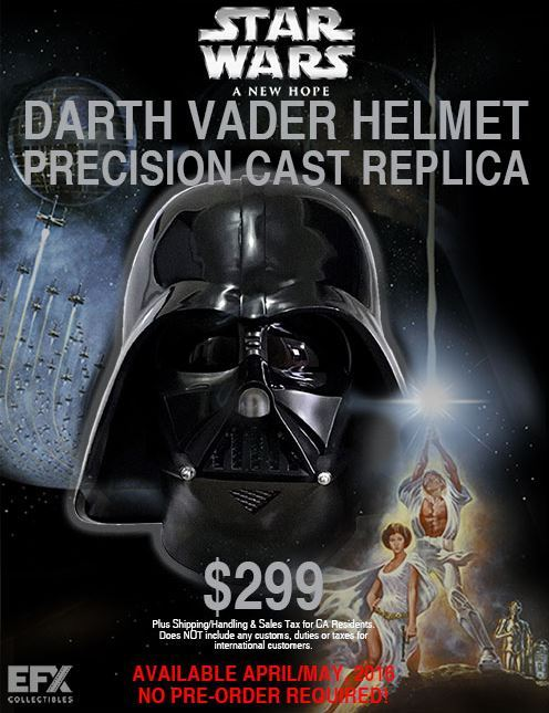 eFx - Star Wars Episode IV Darth Vader Helmet Cast Replica Darth_40