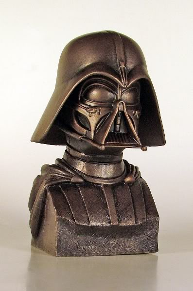 Gentle Giant - Darth Vader McQuarrie Bronze Bust Darthv12