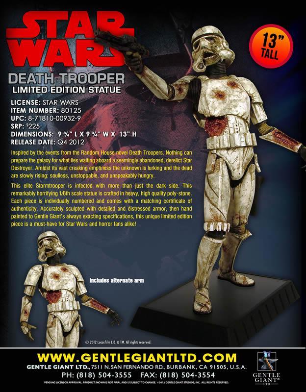 Gentle Giant - Death Trooper Deluxe Statue Deadtr12