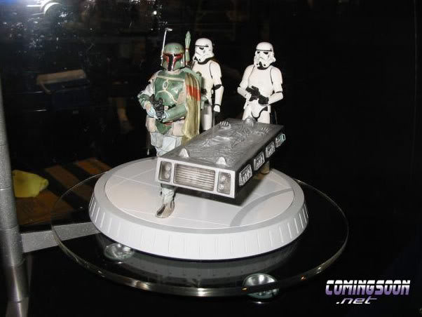 Gentle Giant - Boba fett stormtrooper and han solo carbonite Dioram12