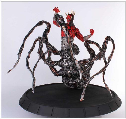 Gentle Giant - Clone Wars - Darth Maul Spider Statue Dmspid10