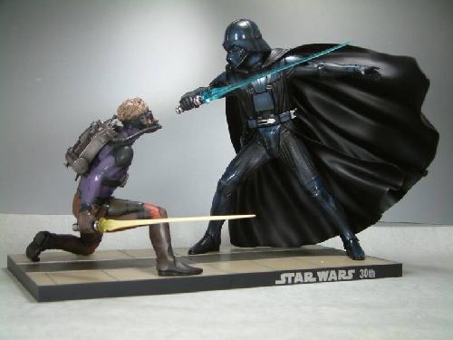 Kotobukiya - Ralph Mc Quarrie duel Vader / Luke ARTFX Statue E4110