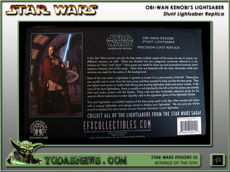 eFx - Obi-Wan Kenobi Lightsaber - Stunt Replica Efxstu19