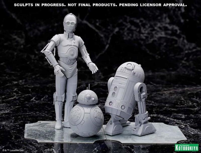 Kotobukiya Star Wars - C3PO,R2D2,BB8 ARTFX+ Statue Fb_img16