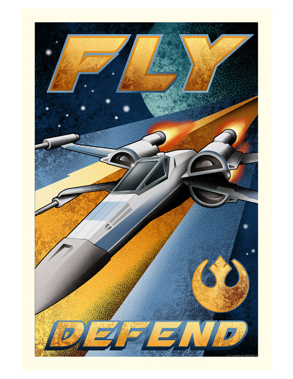 Artwork Star Wars - ACME - Fly and Defend Fly_an10