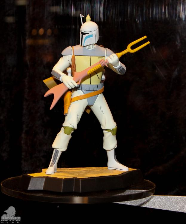 Gentle Giant Holiday Special Animated Boba Fett Maquette  Ggfett10