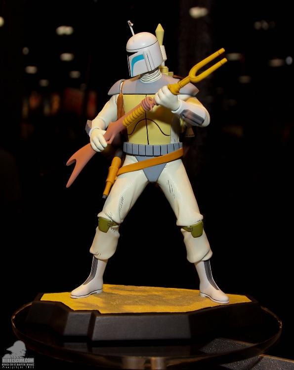 Gentle Giant Holiday Special Animated Boba Fett Maquette  Ggfett12