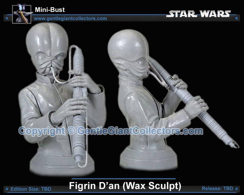 Gentle Giant - Figrin D'An (Wax Sculpt) mini bust Ggnewf11