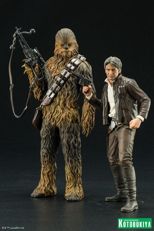 Kotobukiya - The Force Awakens Han & Chewbacca ARTFX+ Pack  Hanche10