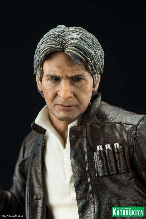 Kotobukiya - The Force Awakens Han & Chewbacca ARTFX+ Pack  Hanche14