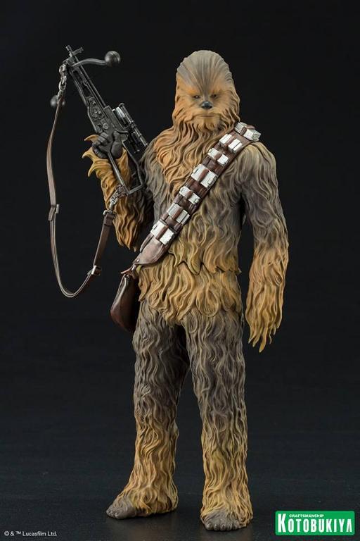 Kotobukiya - The Force Awakens Han & Chewbacca ARTFX+ Pack  Hanche15