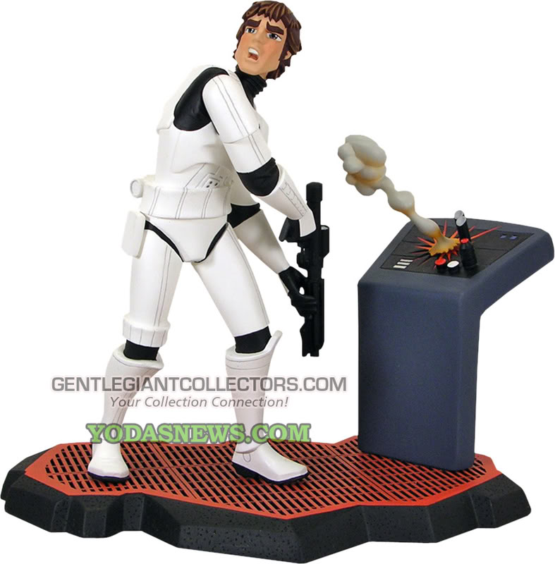 Gentle Giant -Han Solo Stormtrooper Animated Maquette Statue Hsolod10