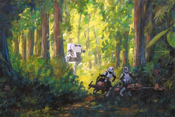 Artwork Star Wars - ACME - Imperial Scout Troopers Imperi12