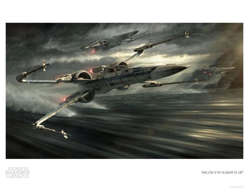 Artwork Star Wars - ACME - Incom T-70 Tearin It Up Incom_11