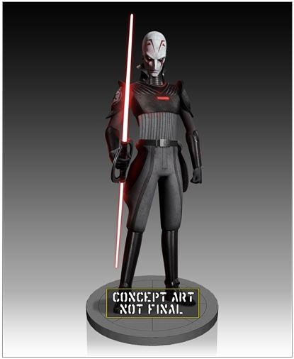 Gentle Giant - Star Wars Inquisitor Delux Maquette PGM Exclu Inquis12