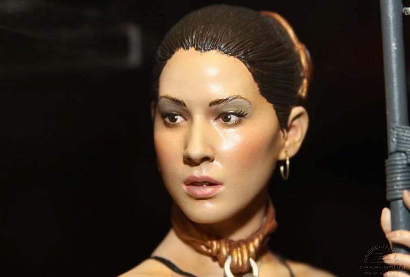 Gentle Giant Set of Slave Olivia & Kevin Kenobi Mini Busts  Leiasl11