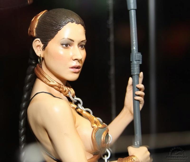 Gentle Giant Set of Slave Olivia & Kevin Kenobi Mini Busts  Leiasl12